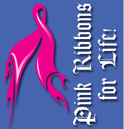 Vector art of the flaming pink ribbons for life event.