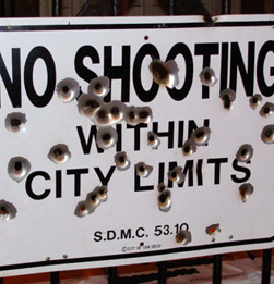 No shooting within city limits